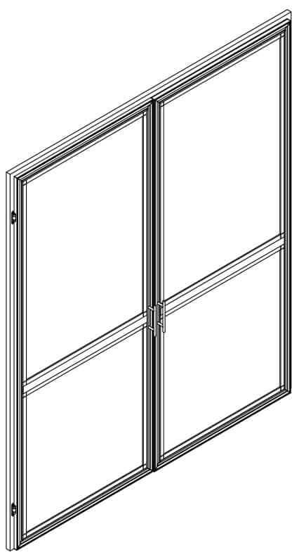 Double Side Hung Door Screen