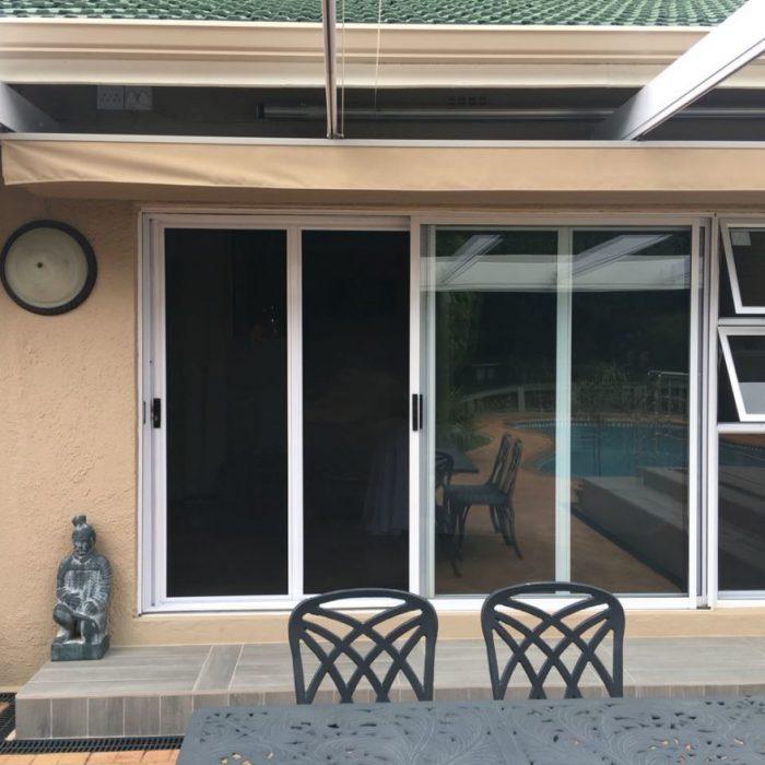 White Secure Screen Sliding door