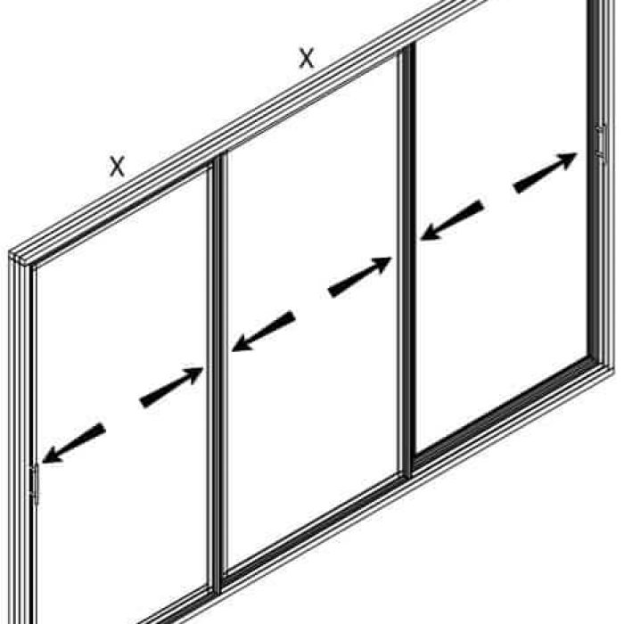 Triple Sliding Door Screen